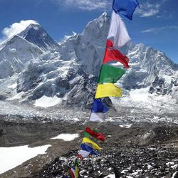 A view of Everest from Kala Patthar peak.