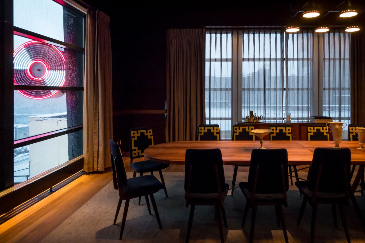 The private dining room at Legacy Records