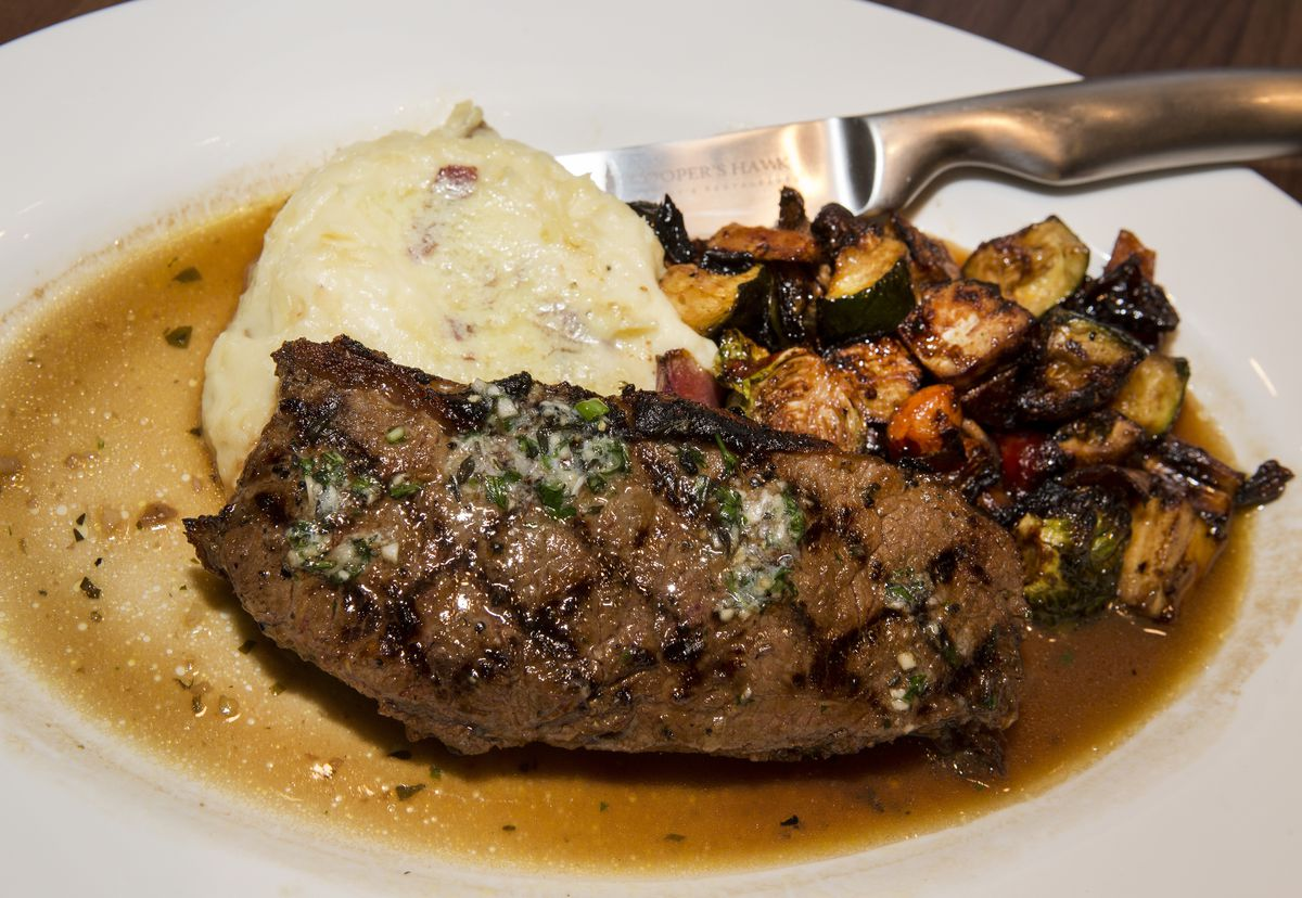 Center-cut New York strip steak