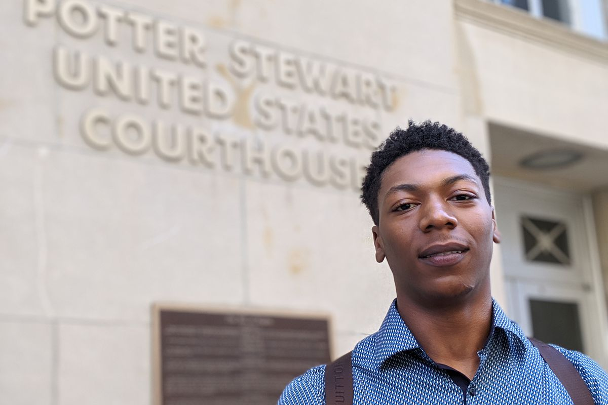 Jamarria Hall had to take remedial classes in college despite finishing near the top of his class at Osborn High School in Detroit. He was one of the plaintiffs in the landmark literacy case. (Bridge photo by Mike Wilkinson)