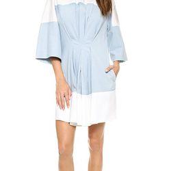 "Pin tuck waist short sleeve dress with beaded neckline, $175 (was $525) via <a href=""http://www.shopbop.com/pintuck-waist-short-sleeve-dress/vp/v=1/1561740078.htm""> Shopbop </a>"