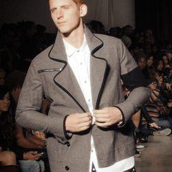 B:SCOTT is bringing back the shirt around the waist trend -- in polka dot print, no less.
