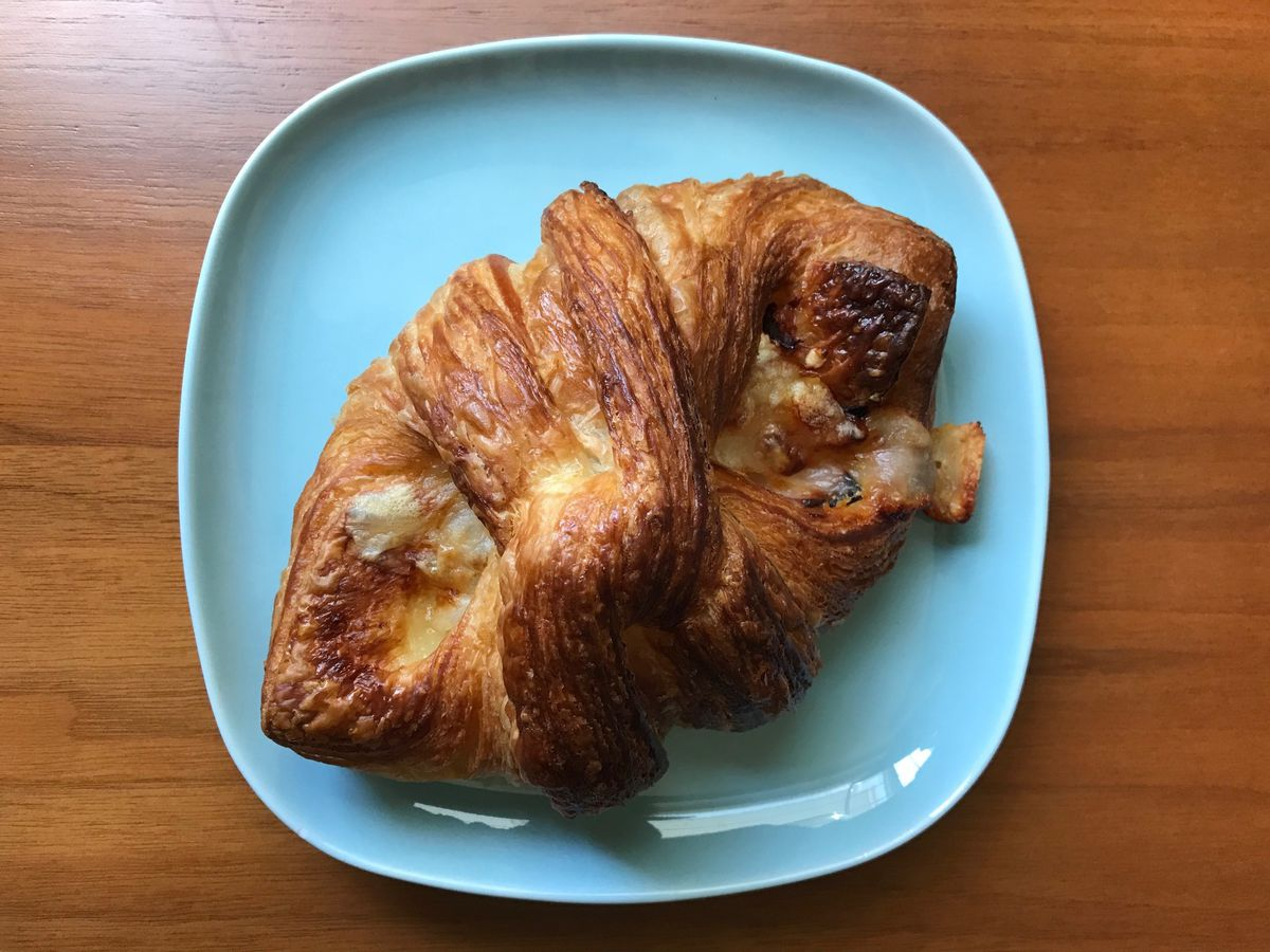 Ham and cheese croissant from Kahnfections