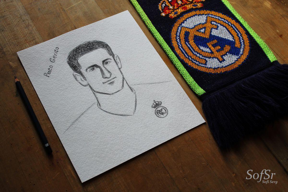 Paco Gento. Drawing by Sofi Serg.