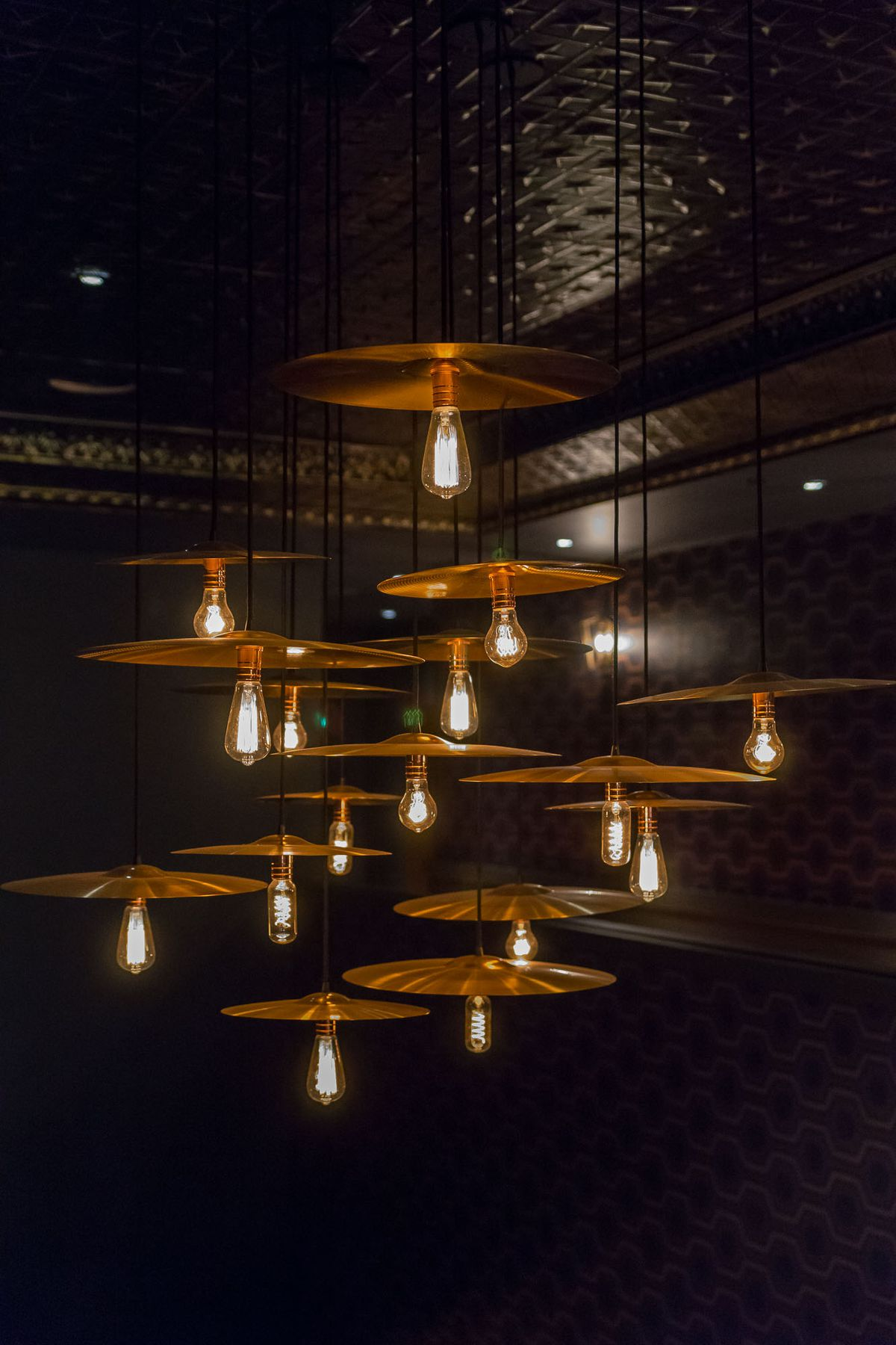 The cymbal light fixture at On the Record
