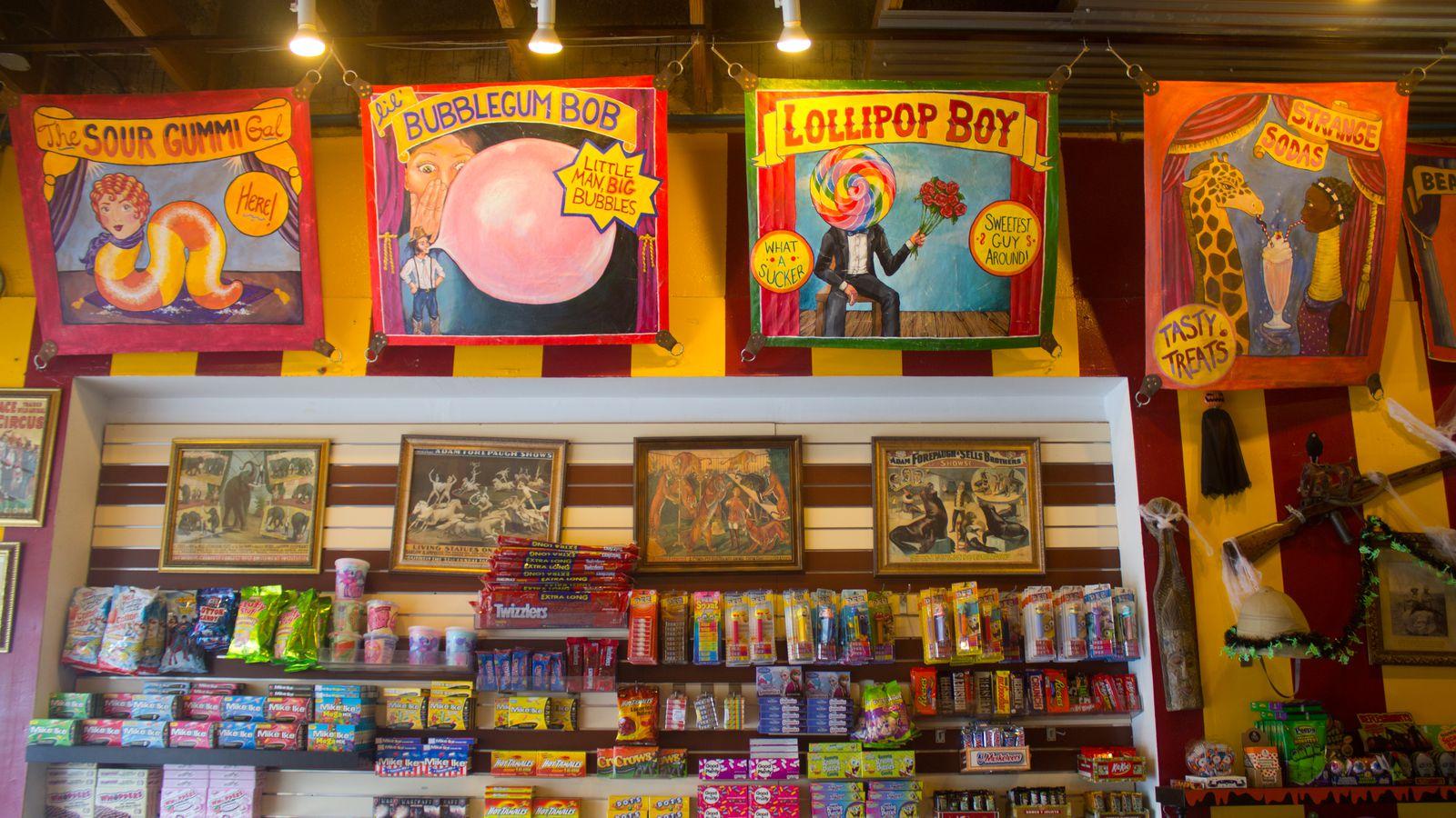 Technicolor Big Top Candy Shop Fuels Austin's Sugar Rush