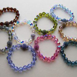 The Elastique is a stretch bracelet made with rich Swarovski crystals that looks good solo or stacked. <br />$68