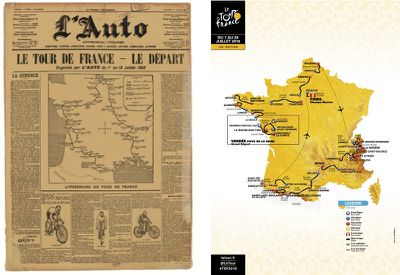The official view of the Tour de France, then and now: once France imposed itself on the Tour, now the Tour imposes itself on France