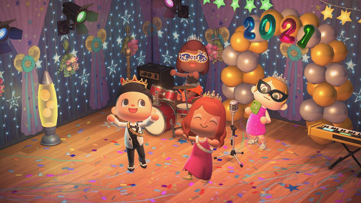 Animal Crossing characters celebrate its anniversary on March 18.