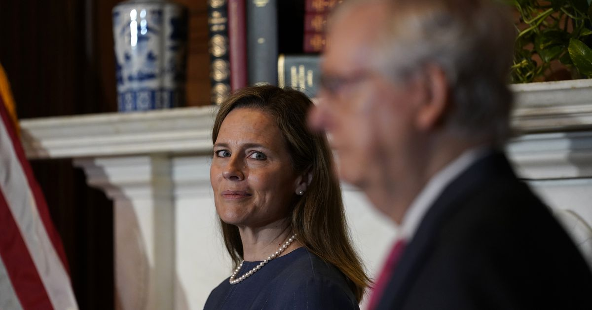 Amy Coney Barrett was confirmed by a slim 52-48 vote.  The 48 senators who voted against Barrett represent 13.5 million more people than the 52 senators who voted for her.