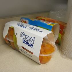 Testing packaged fruit cups