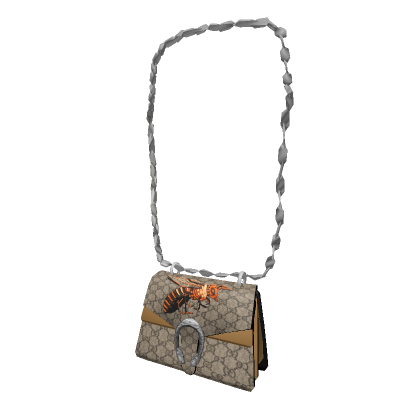 A 3D model of a Gucci bag with a bee on it