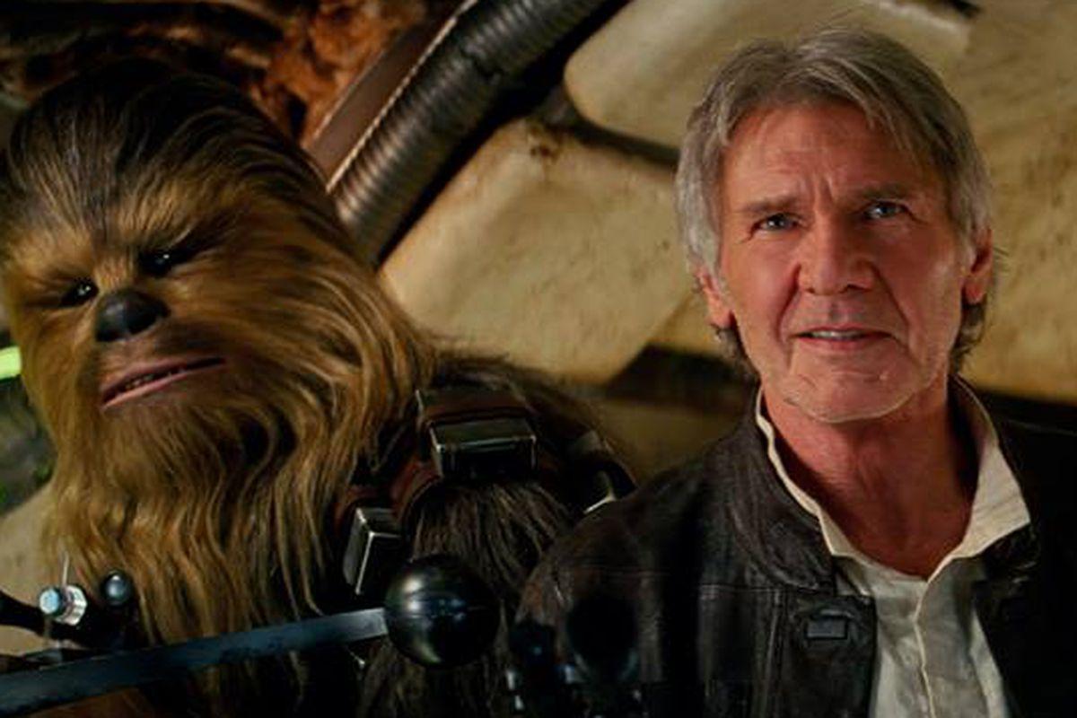 Chewie wasn't with him, sadly.