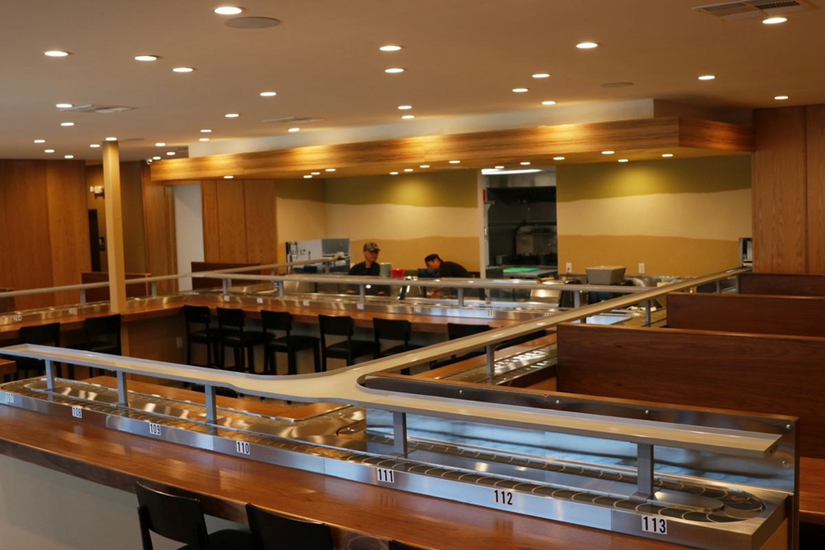 A conveyor belt sushi restaurant in Las Vegas