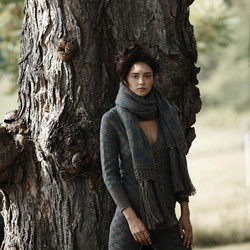 Golden rectangle scarf, $144 at Electric Feathers (was $288; enter code WINTER50 at checkout for 50% off your purchase)