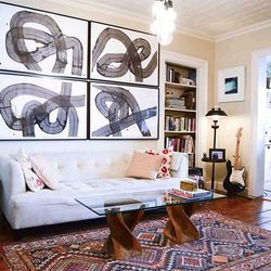 The living room of a Williamsburg Homepolish client.