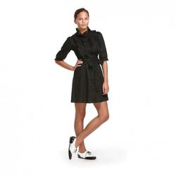 Alice Temperley for Target Voile Ruffle-Front Dress in Black $34.99