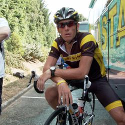 """Lance Armstrong in the documentary film, """"The Armstrong Lie."""""""