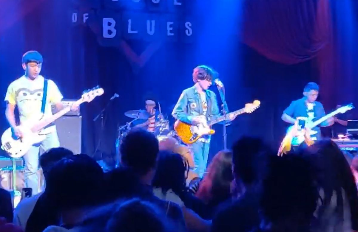 Rylan Wilder (center) plays with Monarchy over Monday at the House of Blues in May 2019.