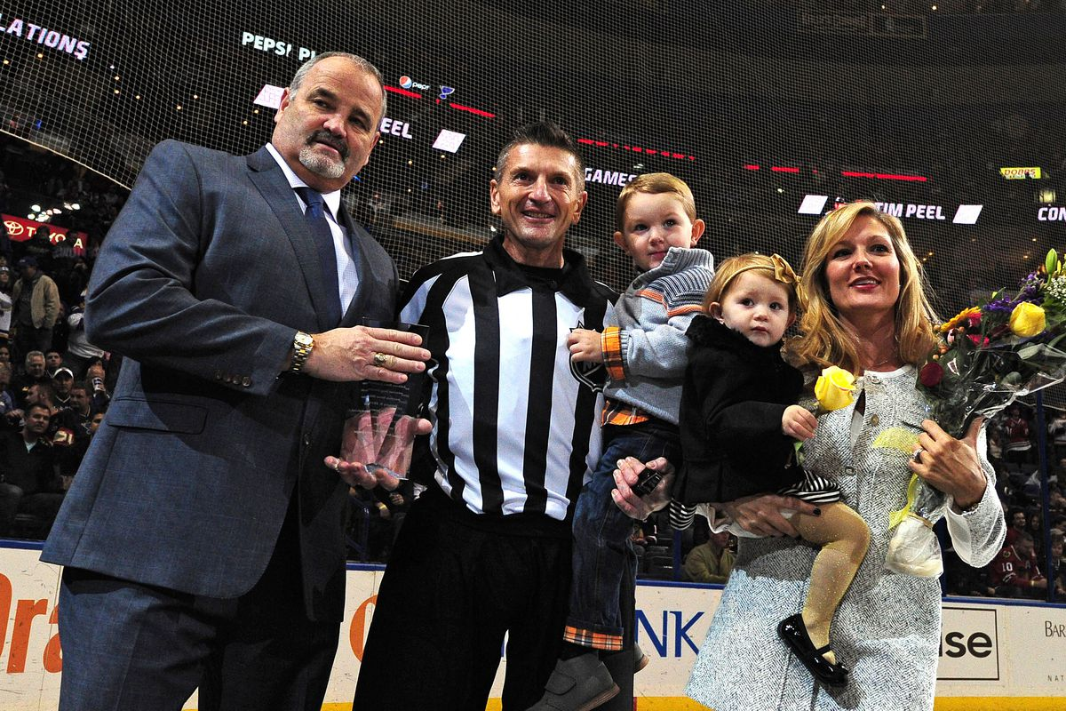 Tim Peel, a Saint Louis native, celebrated his millionth game as referee.  (Source needed)