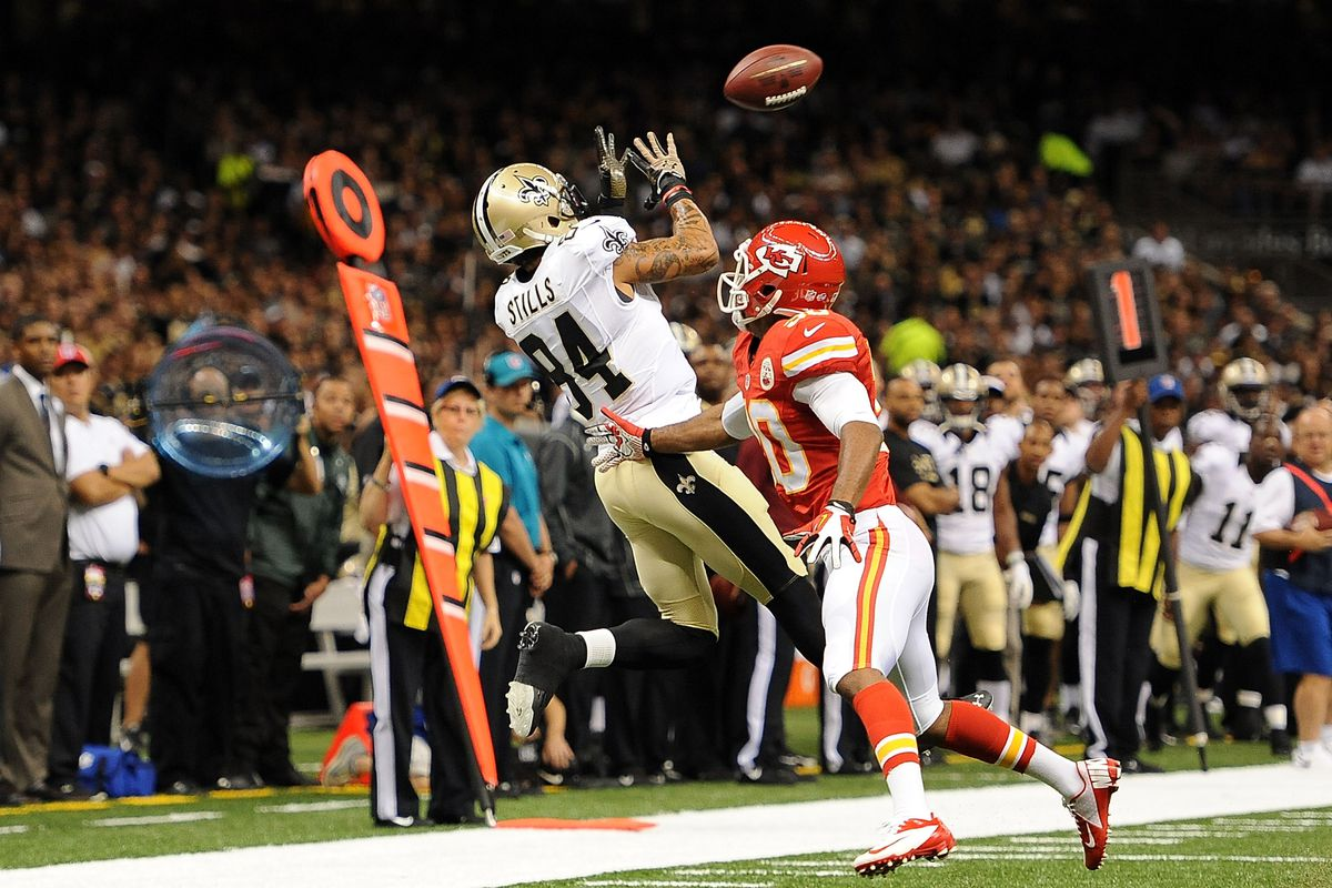 The Saints are counting on rookie wide receiver Kenny Stills (#84) to be a factor in 2013.