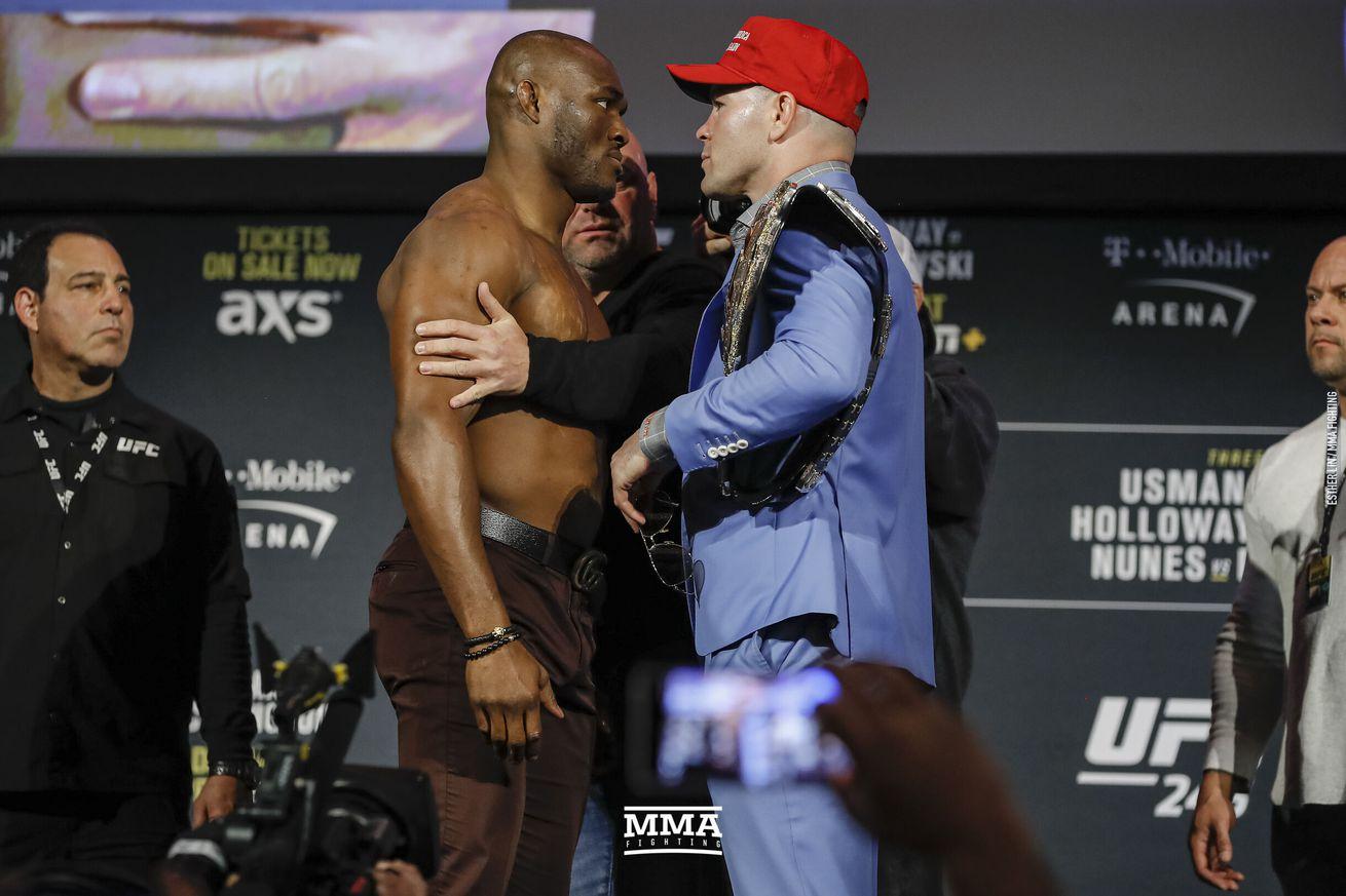 Kamaru Usman, Colby Covington tear into each other on live TV after UFC Vegas 11 headliner: 'You're