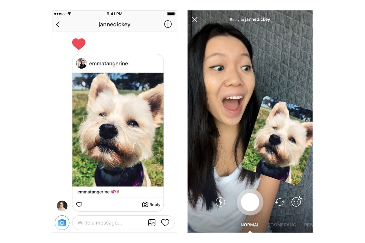 Instagram adds fun photo reply feature to its DM interface