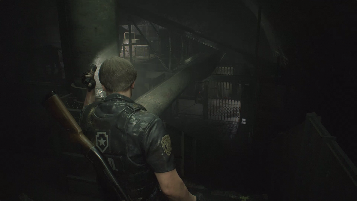 Resident Evil 2Leon in the Supplies Storage Room