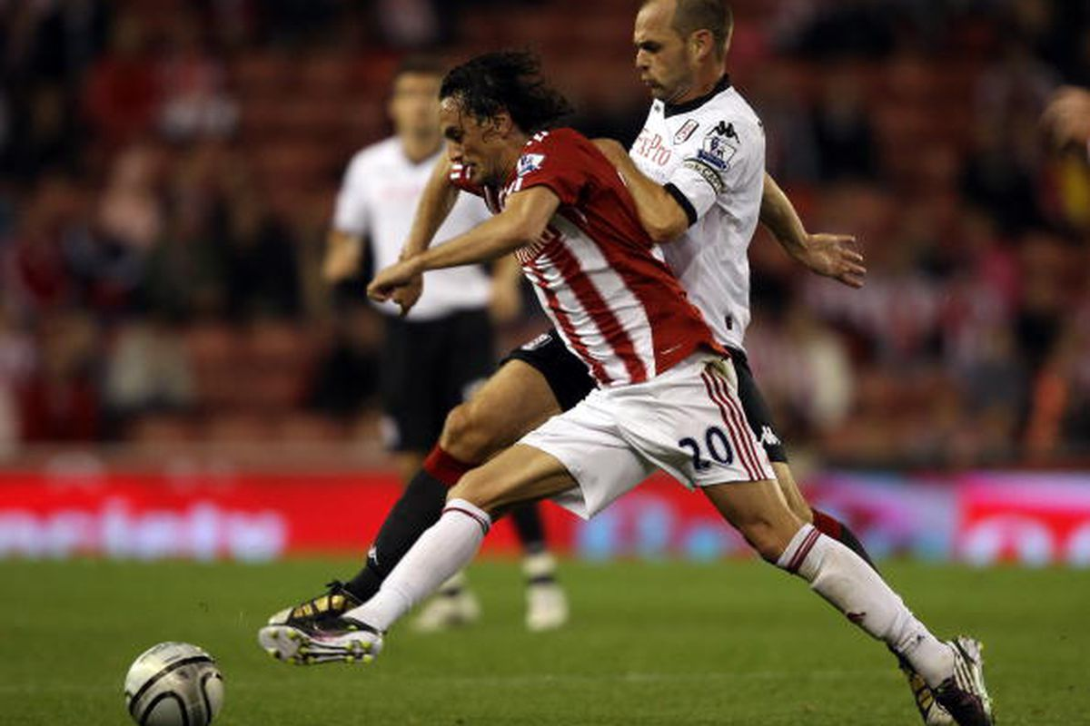 Stoke City vs. Fulham in Carling Cup. Photo via Getty Images
