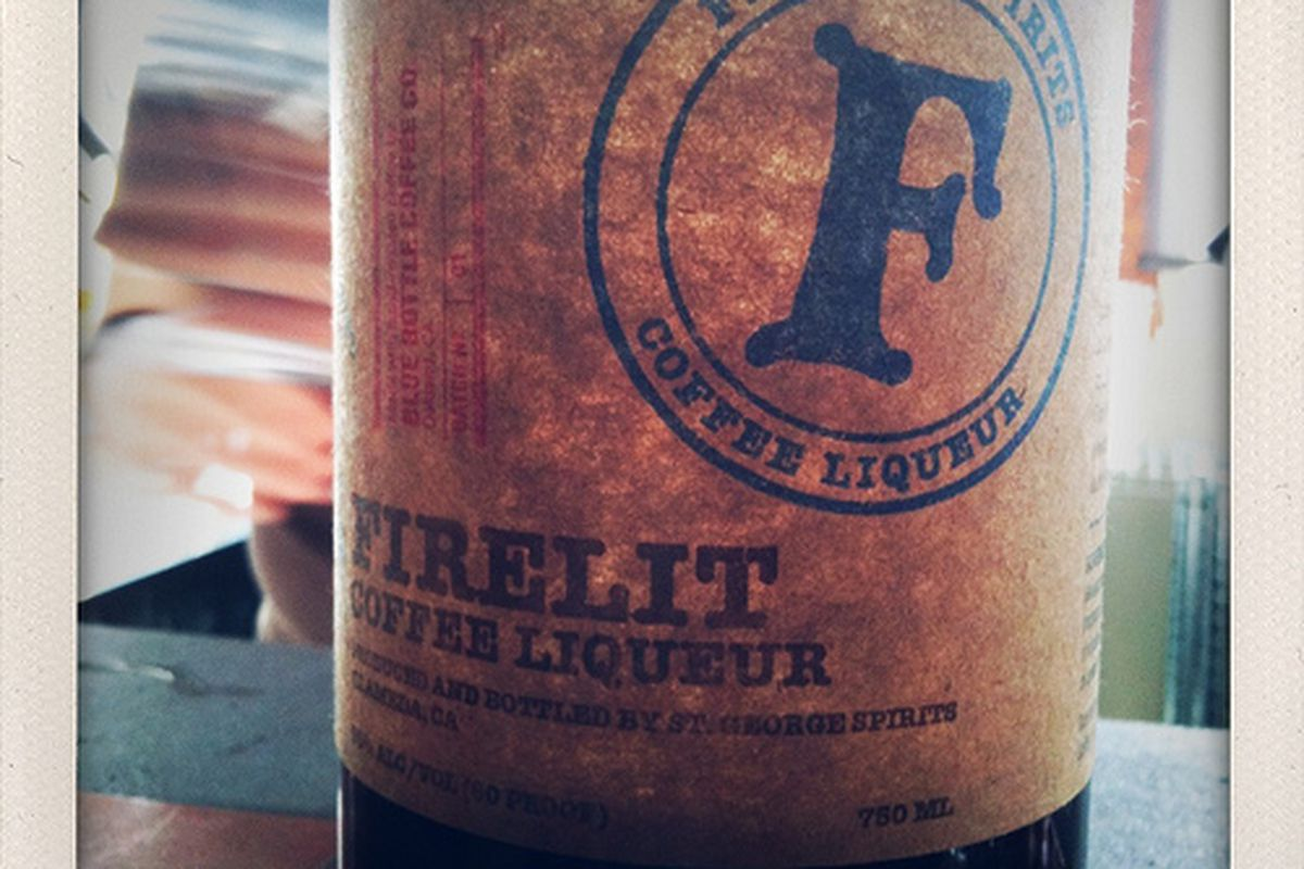 """Blue Bottle Coffee Liqueur from St. George's Spirits. Shot by <a href=""""http://www.flickr.com/photos/girljosh/4455531870/in/pool-520531@N21"""">girljosh</a>"""