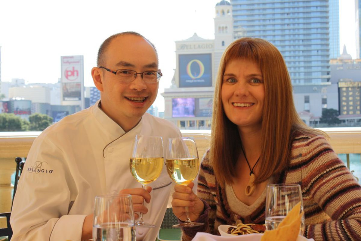 Edmund Wong and Shannon Crozier, now married due to one pasta dish on a first date.