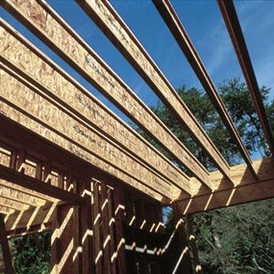 Wood Beams On Roof For House Framing