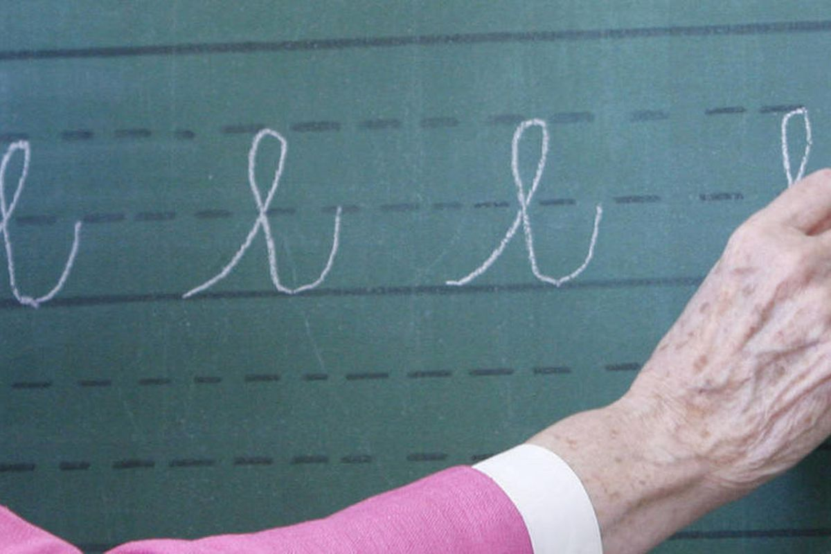 Because so many adults still communicate in cursive, perhaps what's needed is a transition period during which students still learn to read it — that can be taught relatively quickly — but no longer go through the laborious and painstaking process of lear
