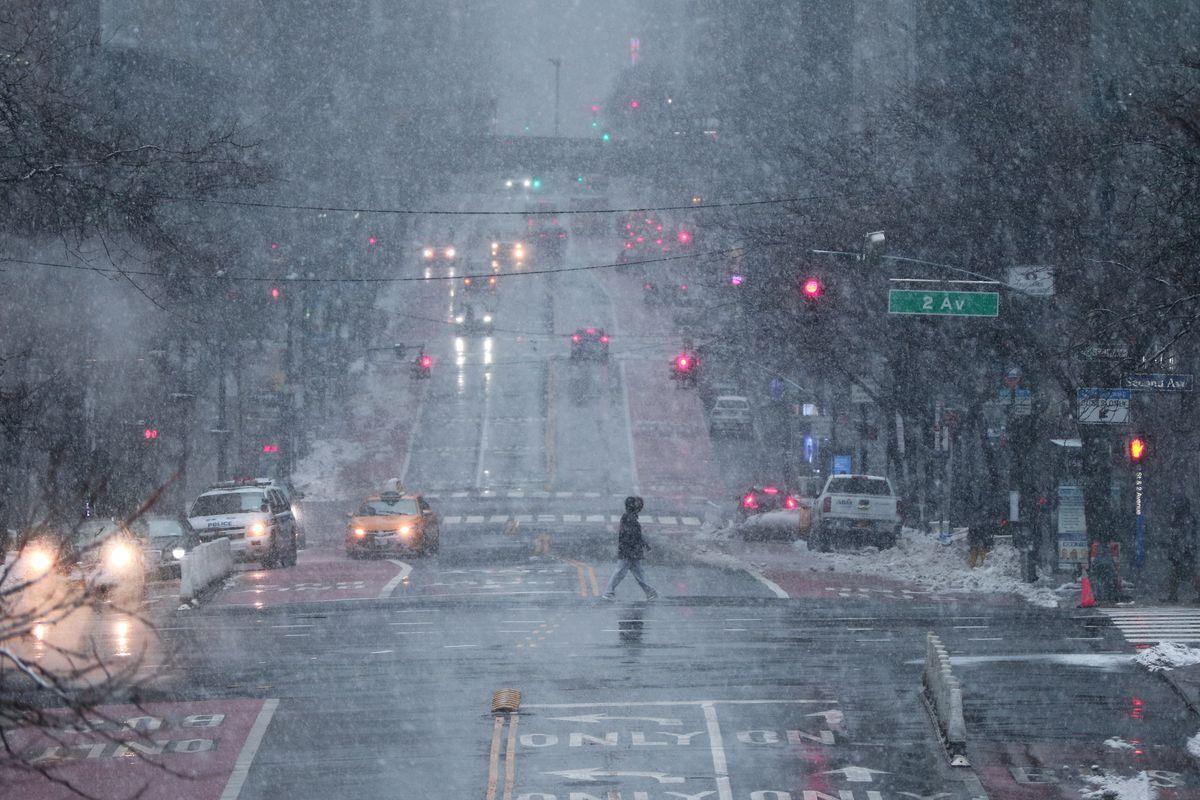 Snowstorm in New York Ciity