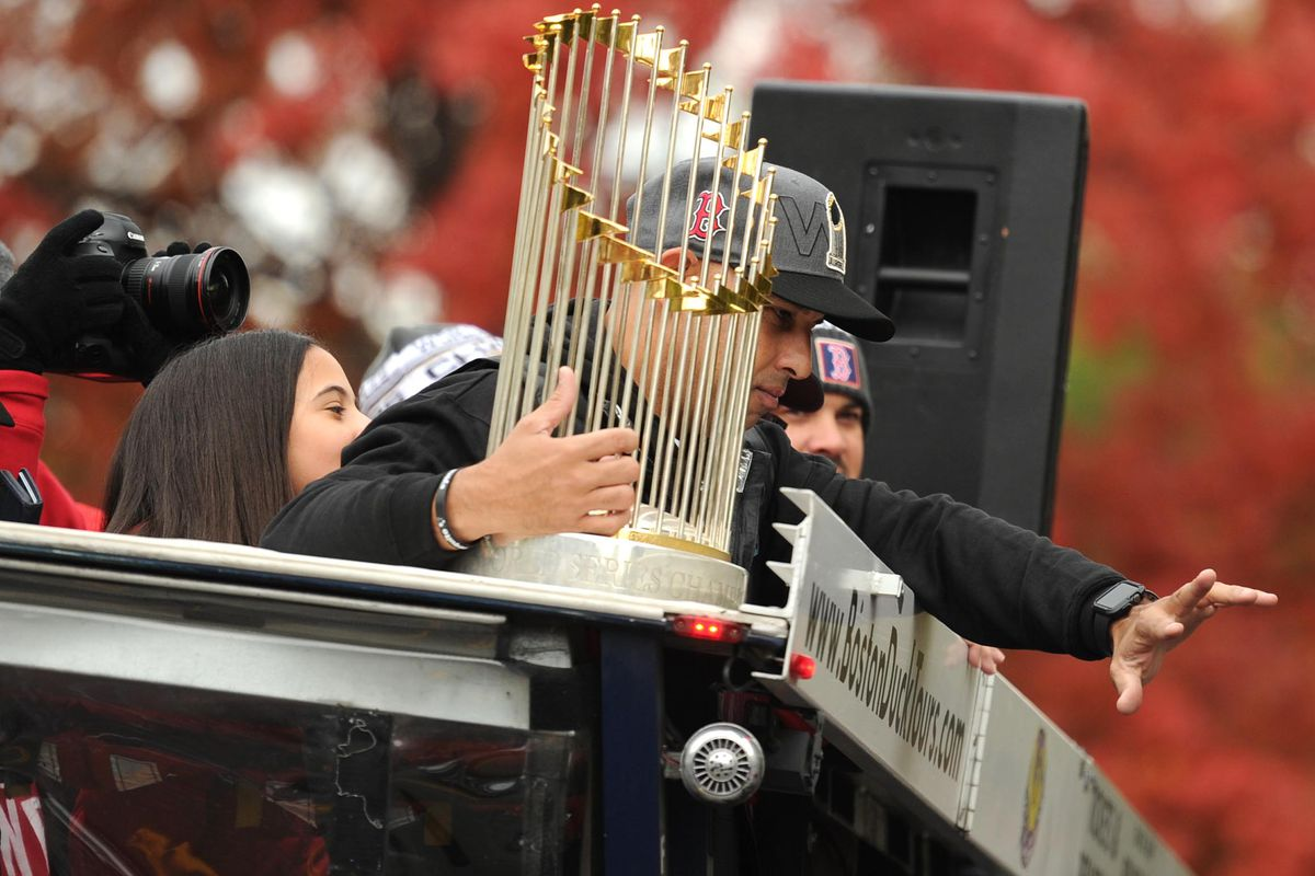 8b2f9e5ca7400f A thrown beer can dented the World Series trophy during the Red Sox parade