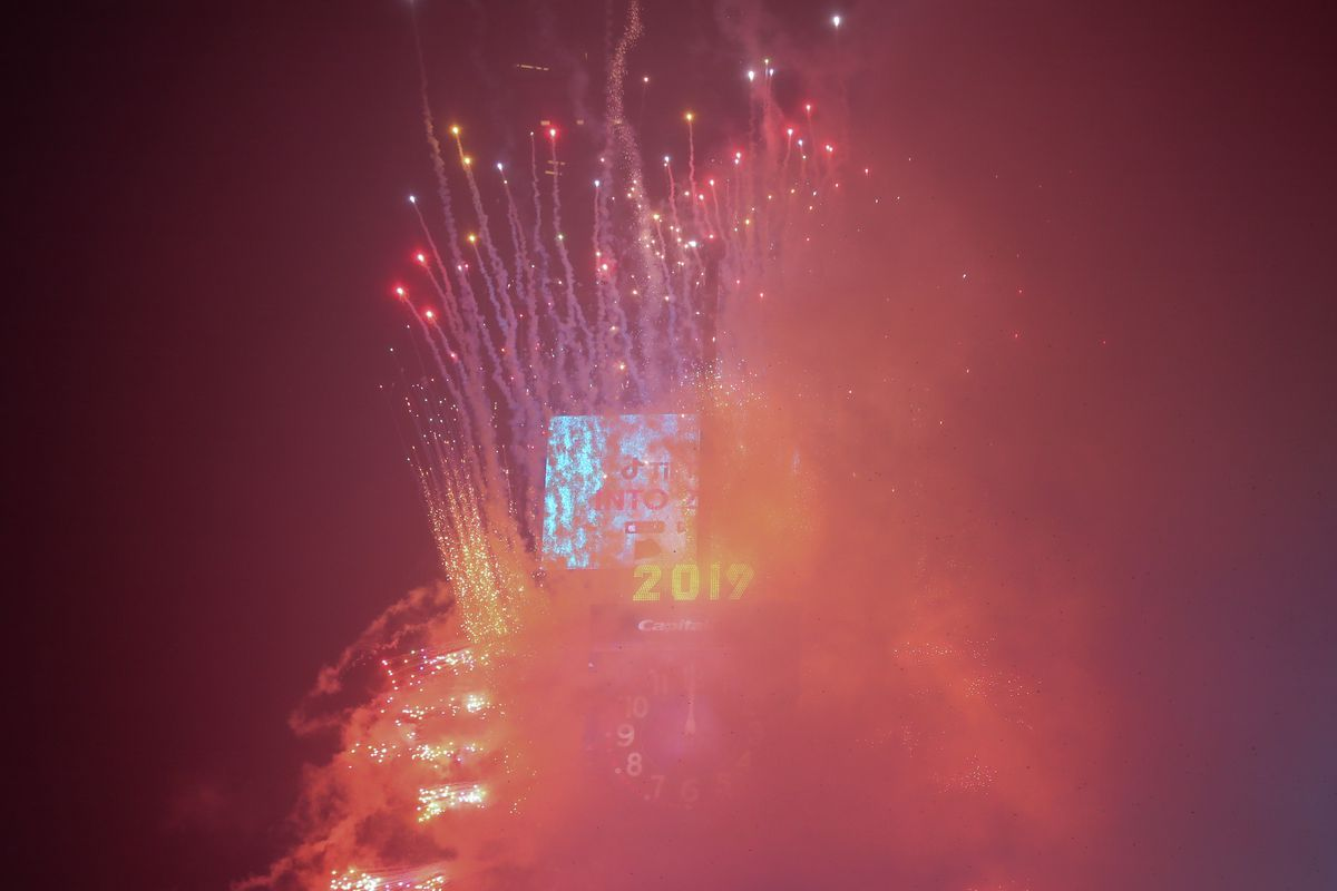 New Year celebrations in New York