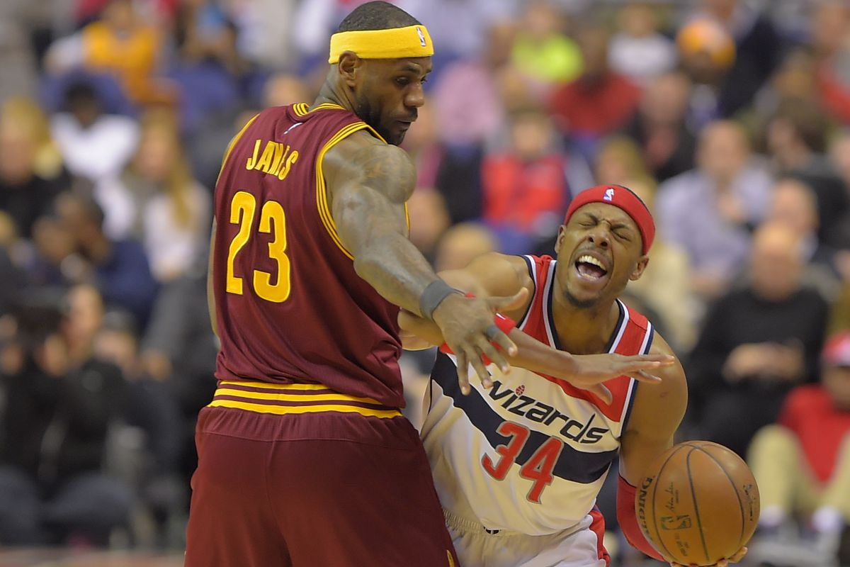 the Washington Wizards play the Cleveland Cavaliers