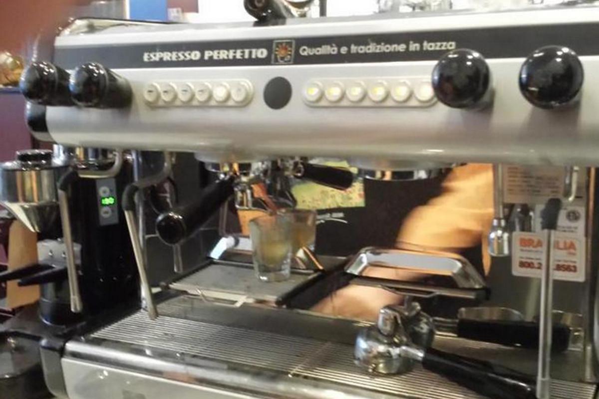 New espresso machine at Milk Street Cafe