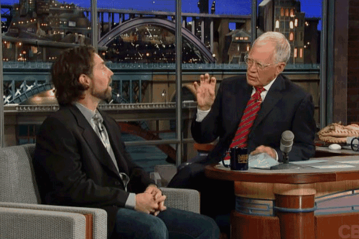 R.A. Dickey. David Letterman. Just talkin' about the knuckleball.