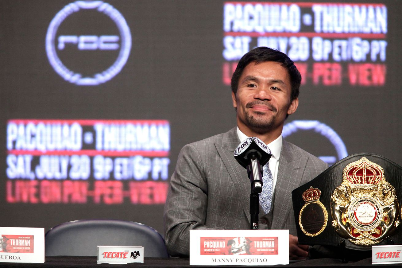 BOX-WBA-WELTERWEIGHT-PHI-USA-PACQUIAO-THURMAN