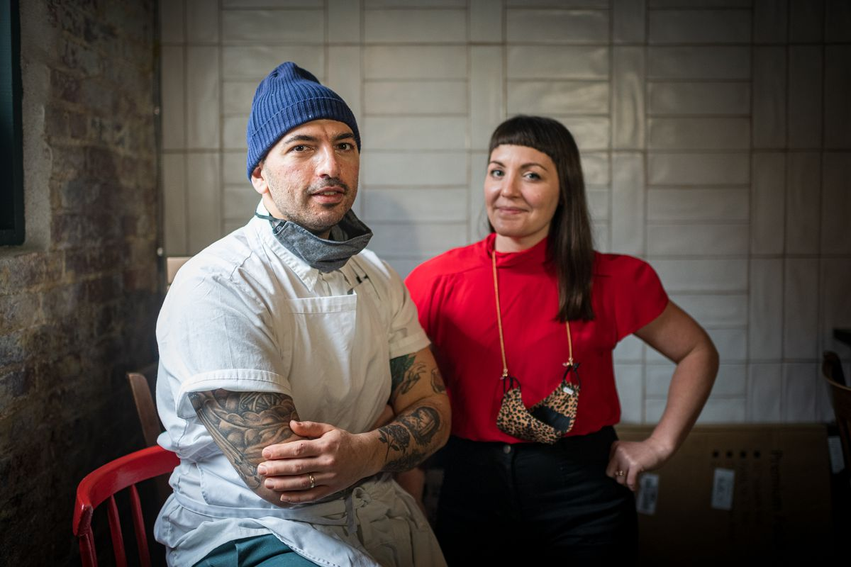 Martha Dear co-owners Demetri Mechelis and Tara Smith started dating while working at Tail Up Goat.