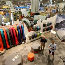 FILE - People attend the Outdoor Retailer Summer Market at the Salt Palace Convention Center in Salt Lake City on Wednesday, Aug. 3, 2016. Though organizers of the Outdoor Retailer trade show have made it clear they won't be returning to Salt Lake City in 2018, Salt Lake City officials have submitted an unsolicited bid to host the convention.