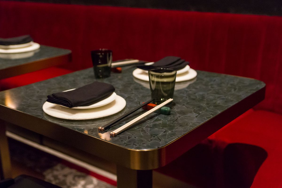 A place setting at Red Plate