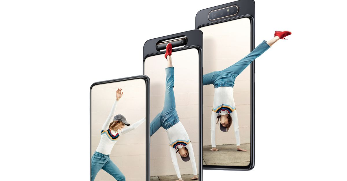 Samsung Galaxy A80 is an automated notchless slider with a rotating triple camera