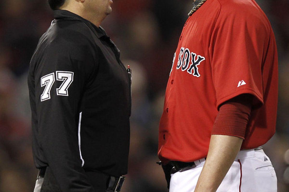 But I'm on the Red Sox! I'm supposed to get all the strikes!