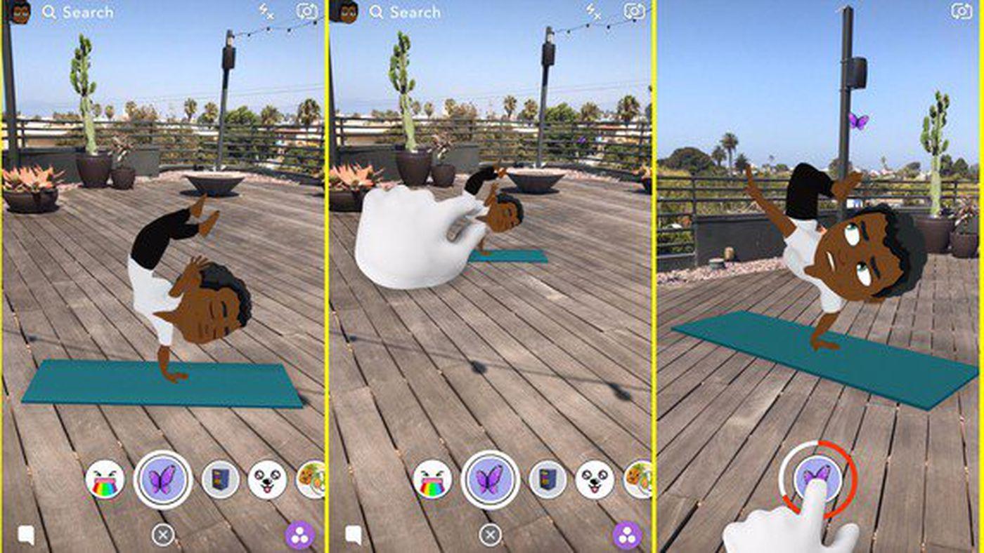 Snapchat's Bitmoji avatars are now three-dimensional and animated