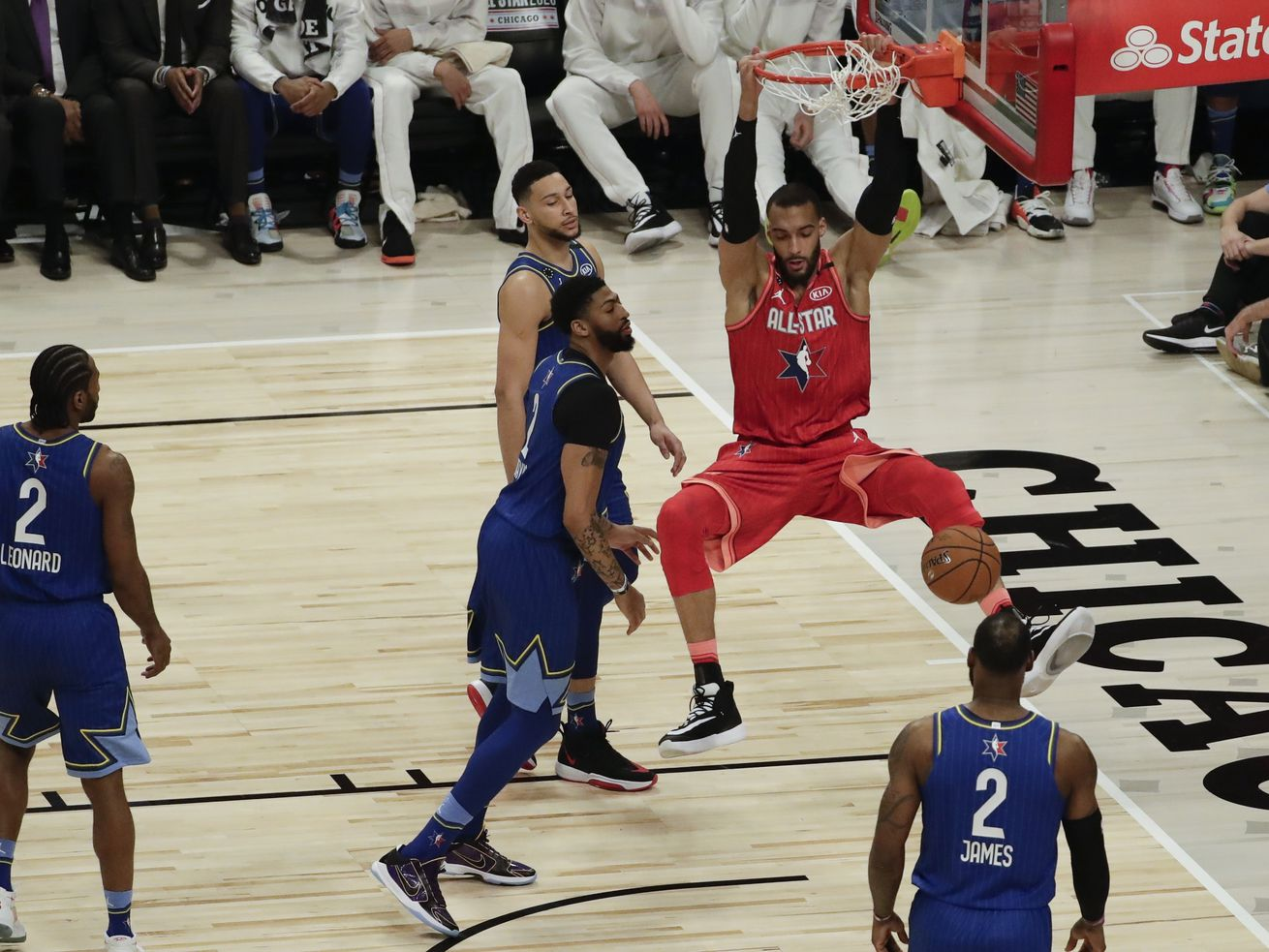 Rudy Gobert sends doubters running as he shines alongside Donovan Mitchell in NBA All-Star Game