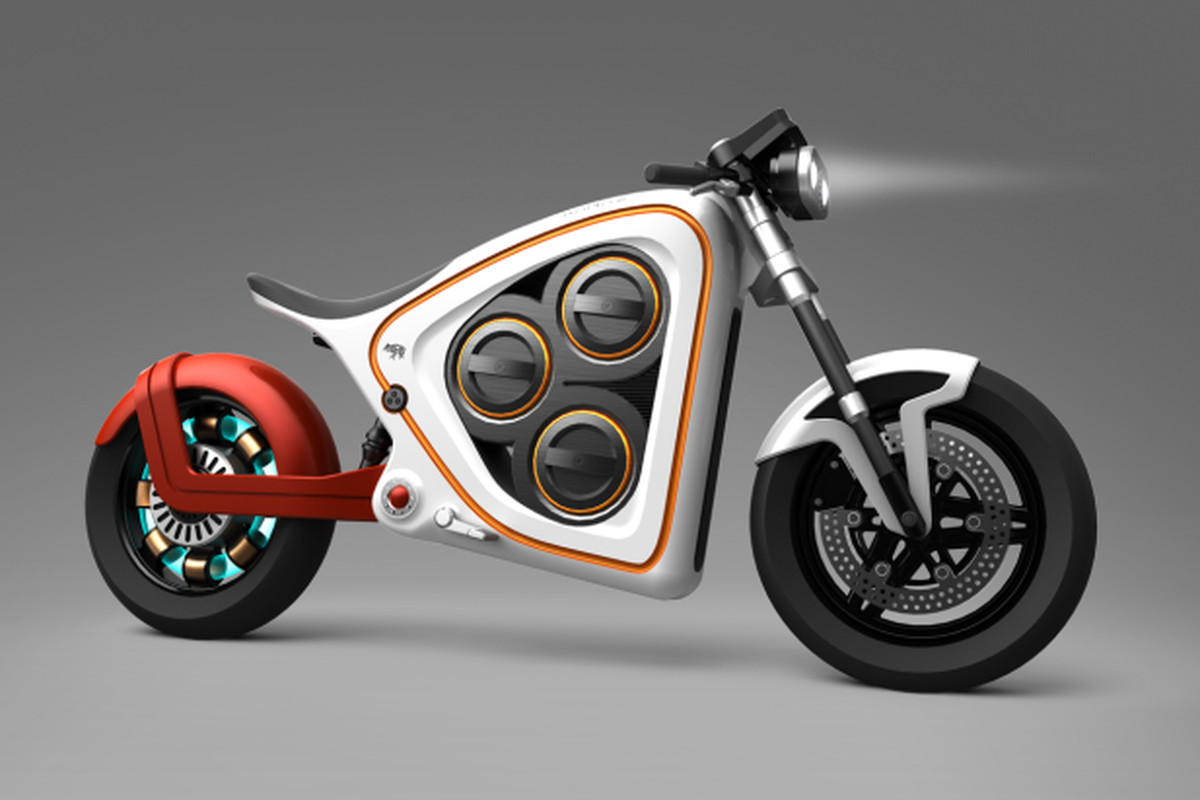 Frog Rana 2 Electric Motorcycle Concept Includes Augmented Reality And Swable Batteries