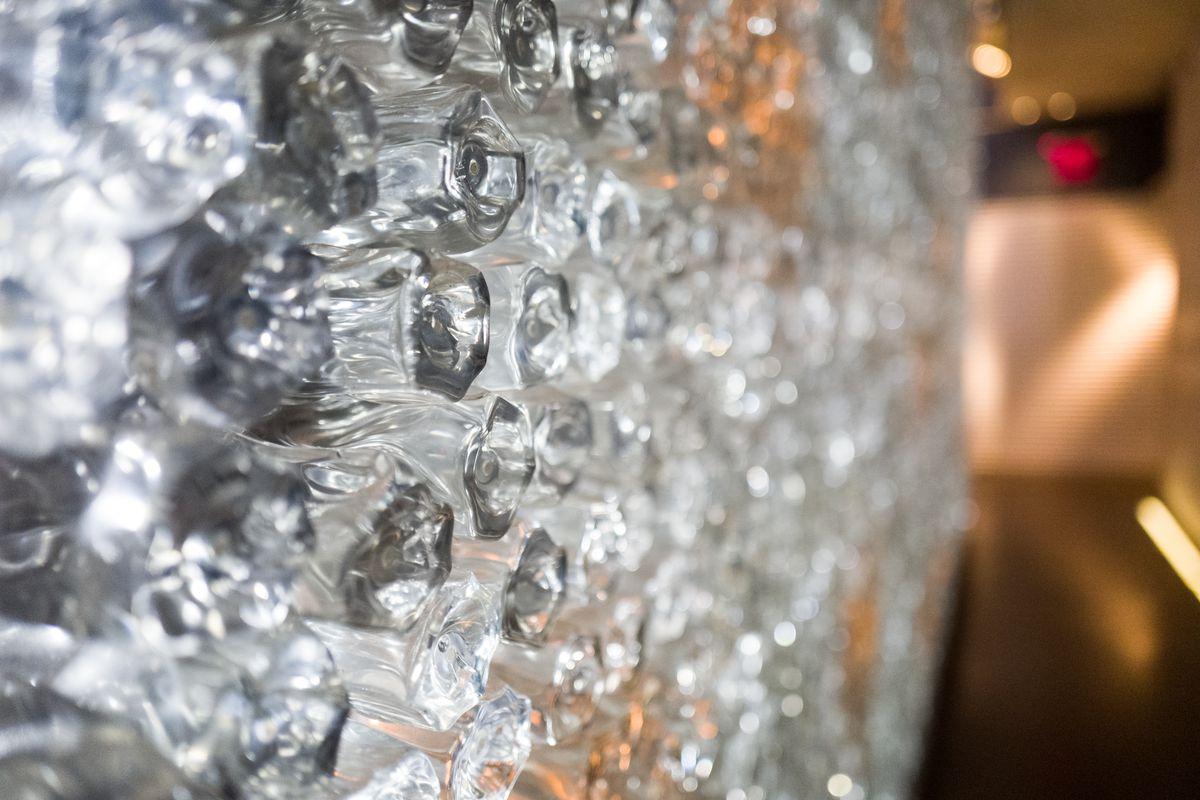 Morimoto's glass wall