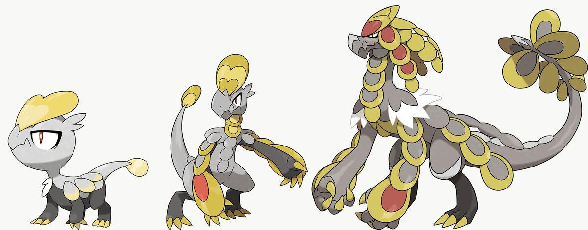 Jangmo-o, Hakamo-o, and Kommo-o are exclusives in Pokémon Sword